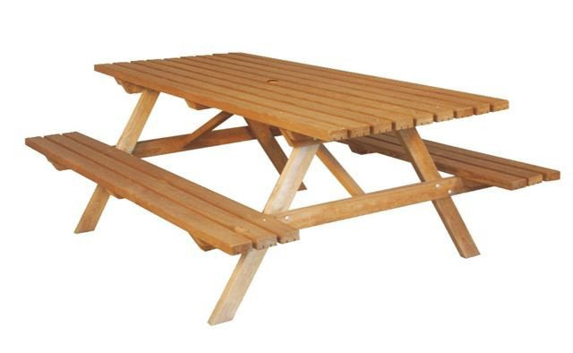 Table de jardin Forestière rectangulaire vert 8 personnes