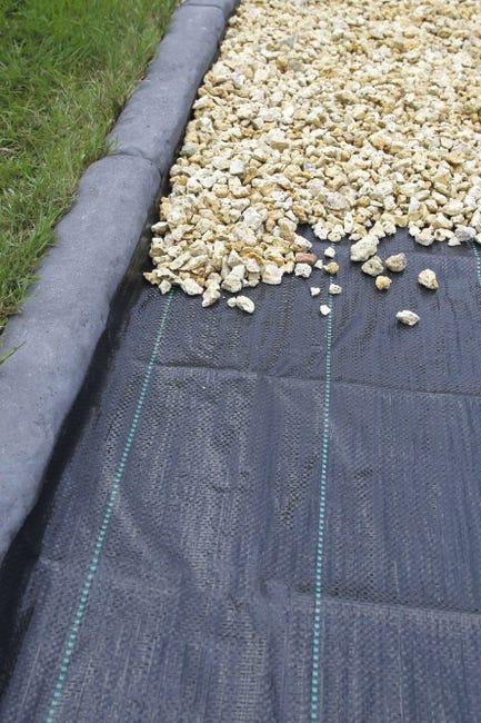 Toile De Paillage Tissee Nature 100 G M 5 25 X 100 M Leroy Merlin
