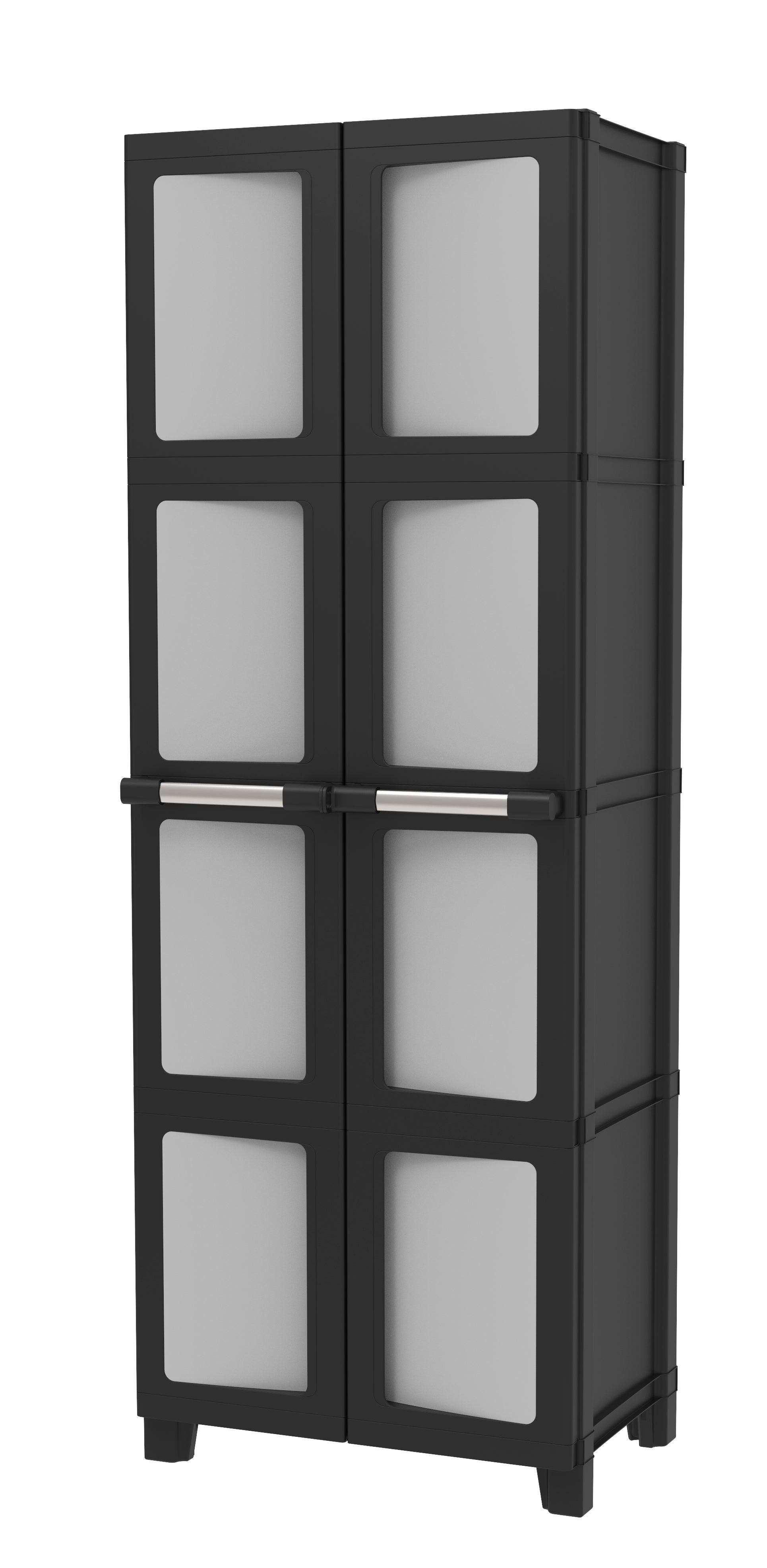 Armoire Haute Plastique 3 Etageres Spaceo Modulize L 65 X H 180 X P 40 Cm Leroy Merlin