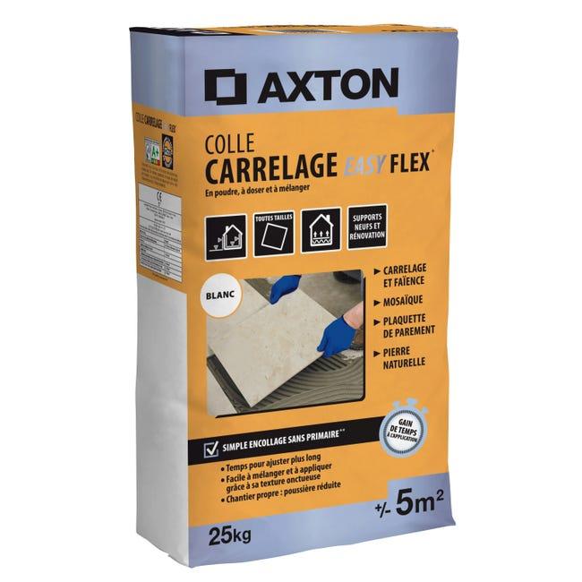 Mortier Colle Poudre Axton Easy Flex Blanc 25 Kg 5 M Leroy Merlin