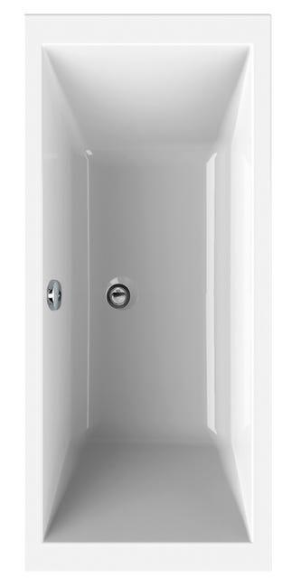 Baignoire Rectangulaire L 190x L 90 Cm Blanc Sensea Premium Design Leroy Merlin