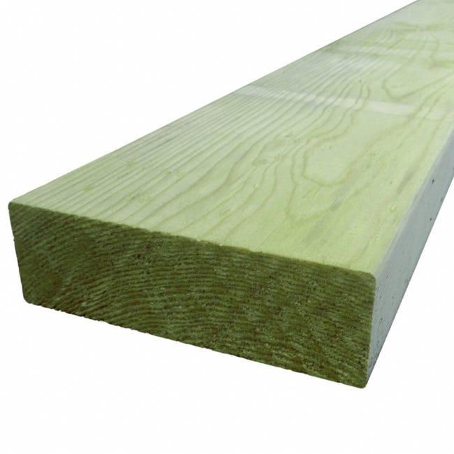 Lambourde Pour Terrasse Bois Resineux Vert L 3 M X L 14 5 Cm X Ep 4 5 Mm Leroy Merlin