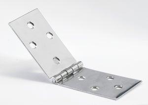 Image : Charnière universelle inox pour meuble, L.40 x l.120 mm