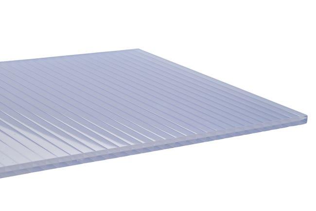 Plaque de toiture plat polycarbonate opale l.0.98 x L.4 m ...