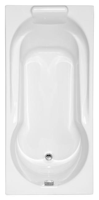 Baignoire Rectangulaire L 150x L 75 Cm Blanc Allibert Essina Leroy Merlin