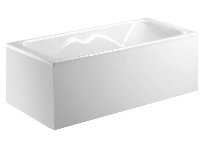 Tablier De Baignoire D Angle Blanc L 180 Fix Alu 180x80 Allibert