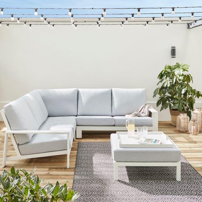 Salon Bas De Jardin De Jardin En Aluminium Ikaria Anthracite