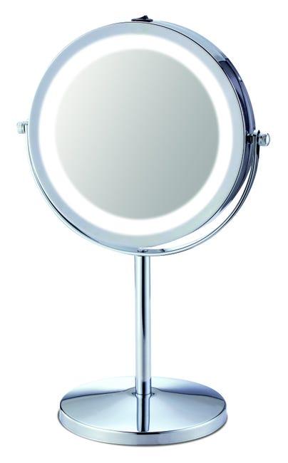 Miroir Grossissant X 5 Rond H 31 X L 17 5 X P 0 5 Cm Led Leroy Merlin