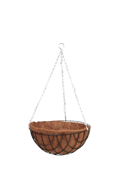 Suspension Fibre De Coco Avec Support Diam 40 X H 20 Cm Naturel Leroy Merlin