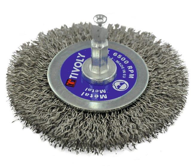 Brosse Circulaire Technic Pour Inox Tivoly Xt202520125 Diam 70 Mm Leroy Merlin