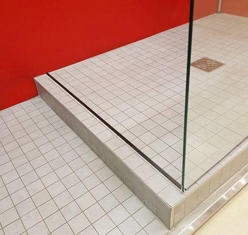 barre de seuil pour porte de douche noir mat 120 cm