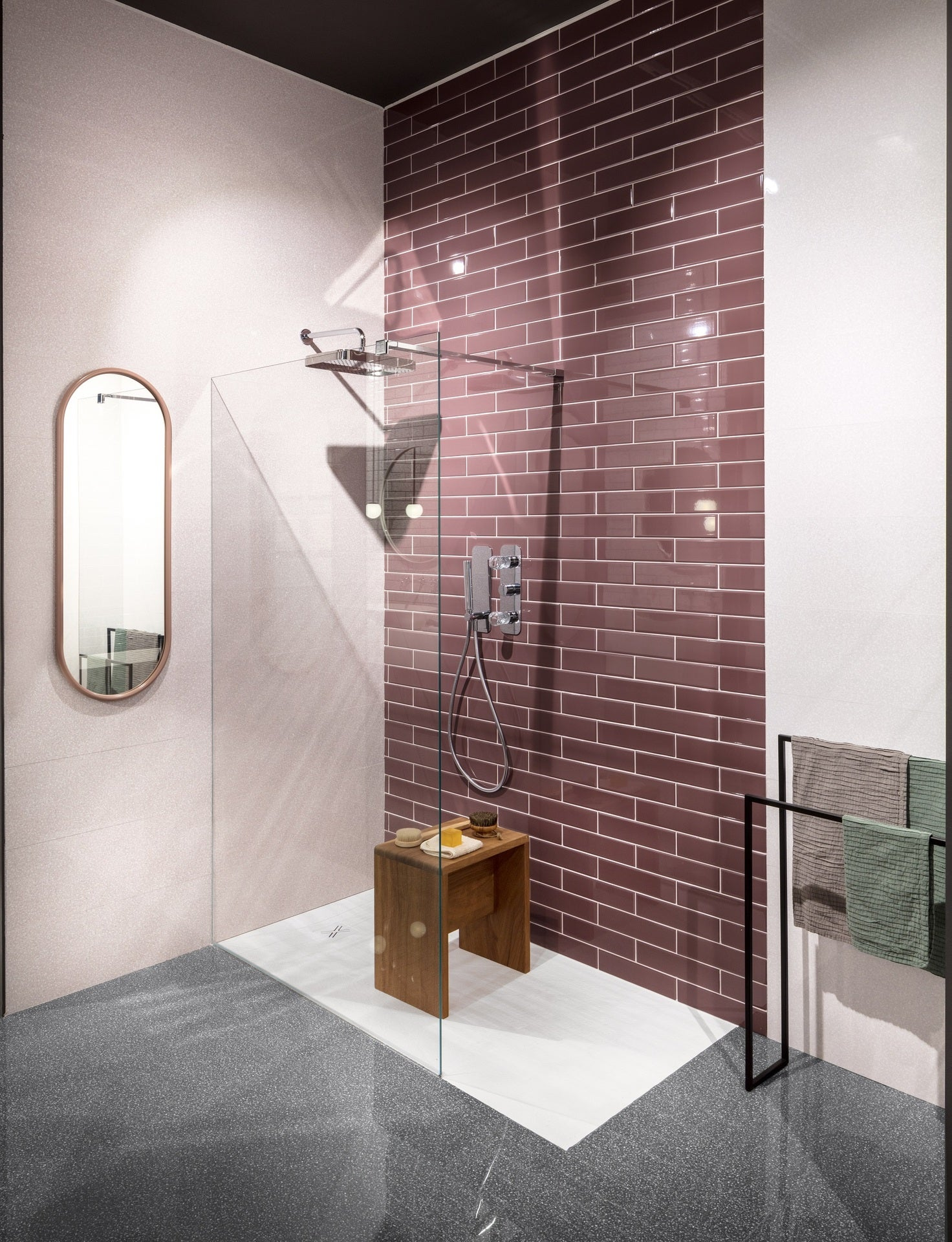 carrelage mur marbre rose poli l 25 x l 75 cm newdot sant agostino leroy merlin