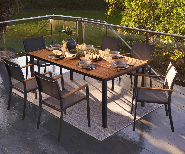 Table De Jardin De Repas Naterial Oris Rectangulaire 6 8 Personnes Leroy Merlin