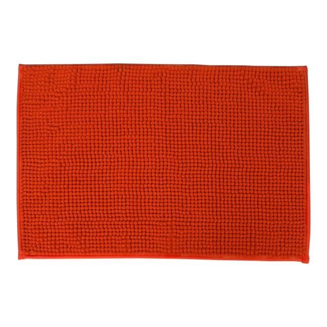 Tapis De Bain L 40 X L 60 Cm Orange Easy Sensea Leroy Merlin