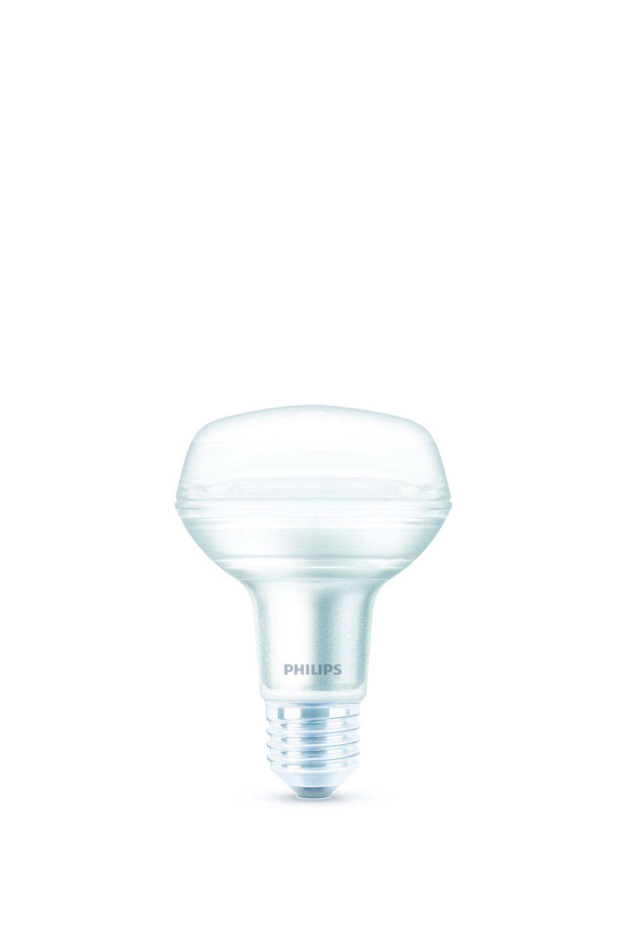Ampoule Led Opaque Spot E27 345 Lm 4 W Blanc Chaud Philips Leroy Merlin