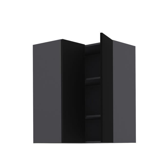 meuble haut d angle de cuisine soho noir 2 portes h103xl67