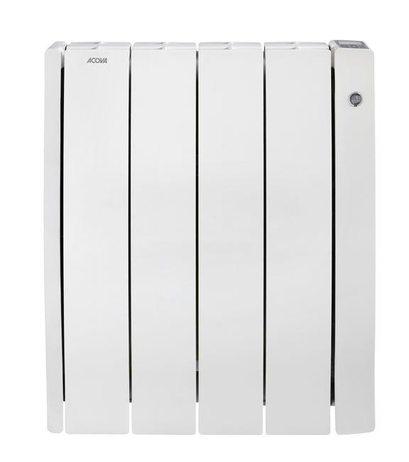 Radiateur Electrique A Inertie Seche 1000 W Acova Taffetas 2 Connecte Blanc Leroy Merlin