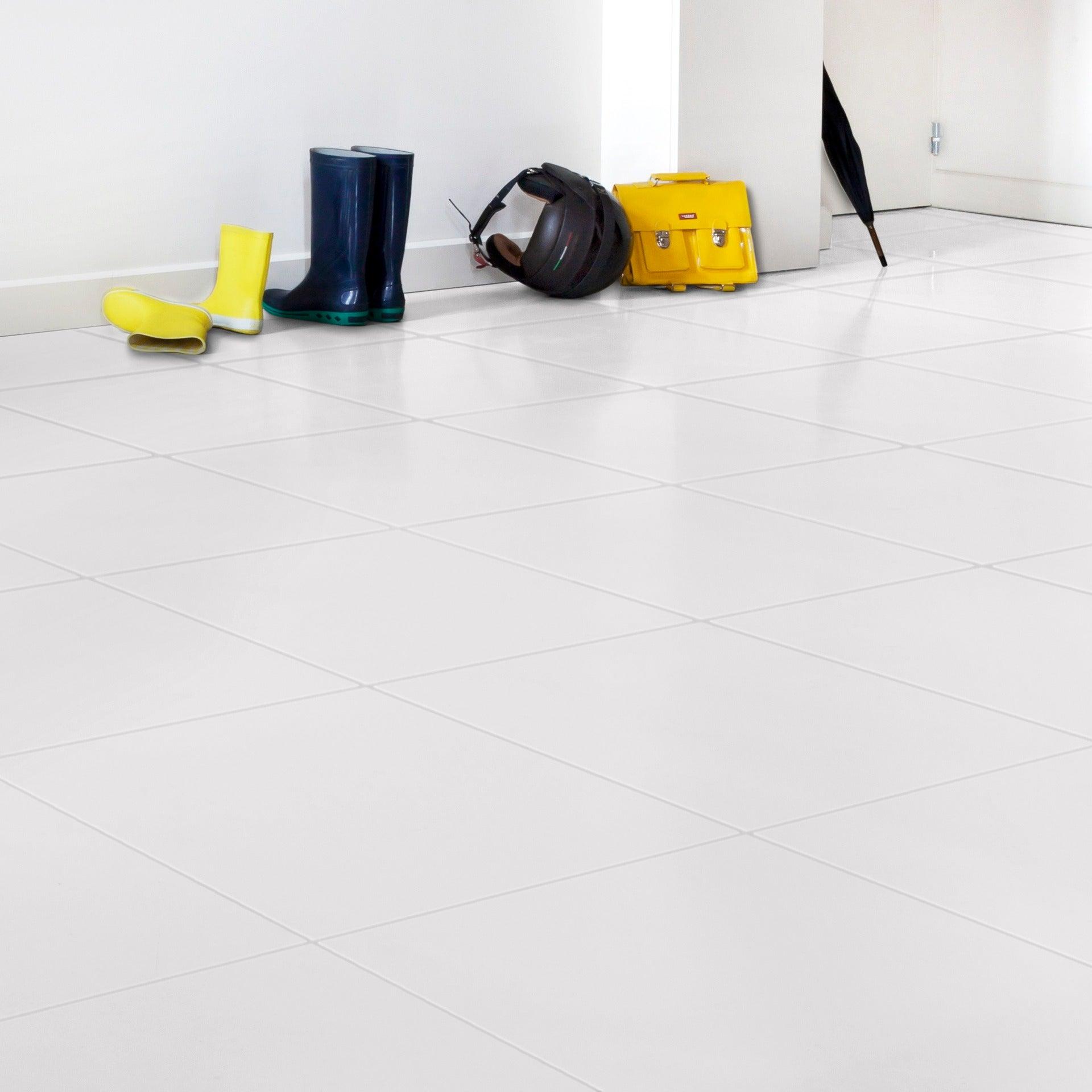 Peinture sol intérieur Carrelage décolab® V9, blanc, 9.9 l
