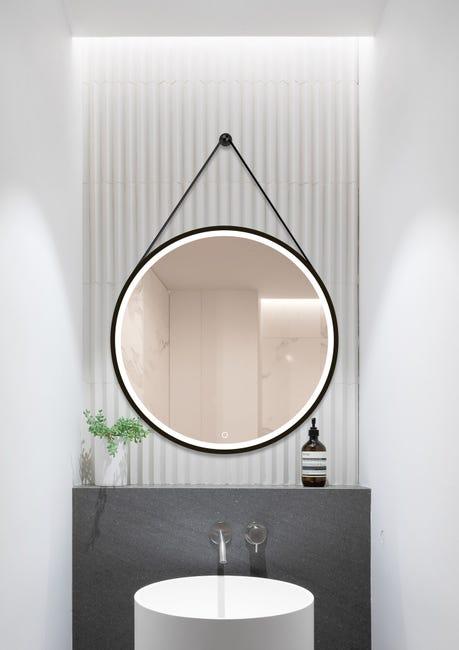 Miroir Lumineux Miroir Avec Eclairage Integre L 75 X H 75 Cm Barber Leroy Merlin